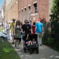 Art walk visitors