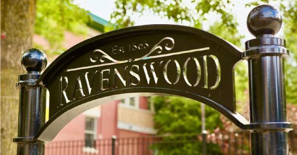 Ravenswood branded bike rack