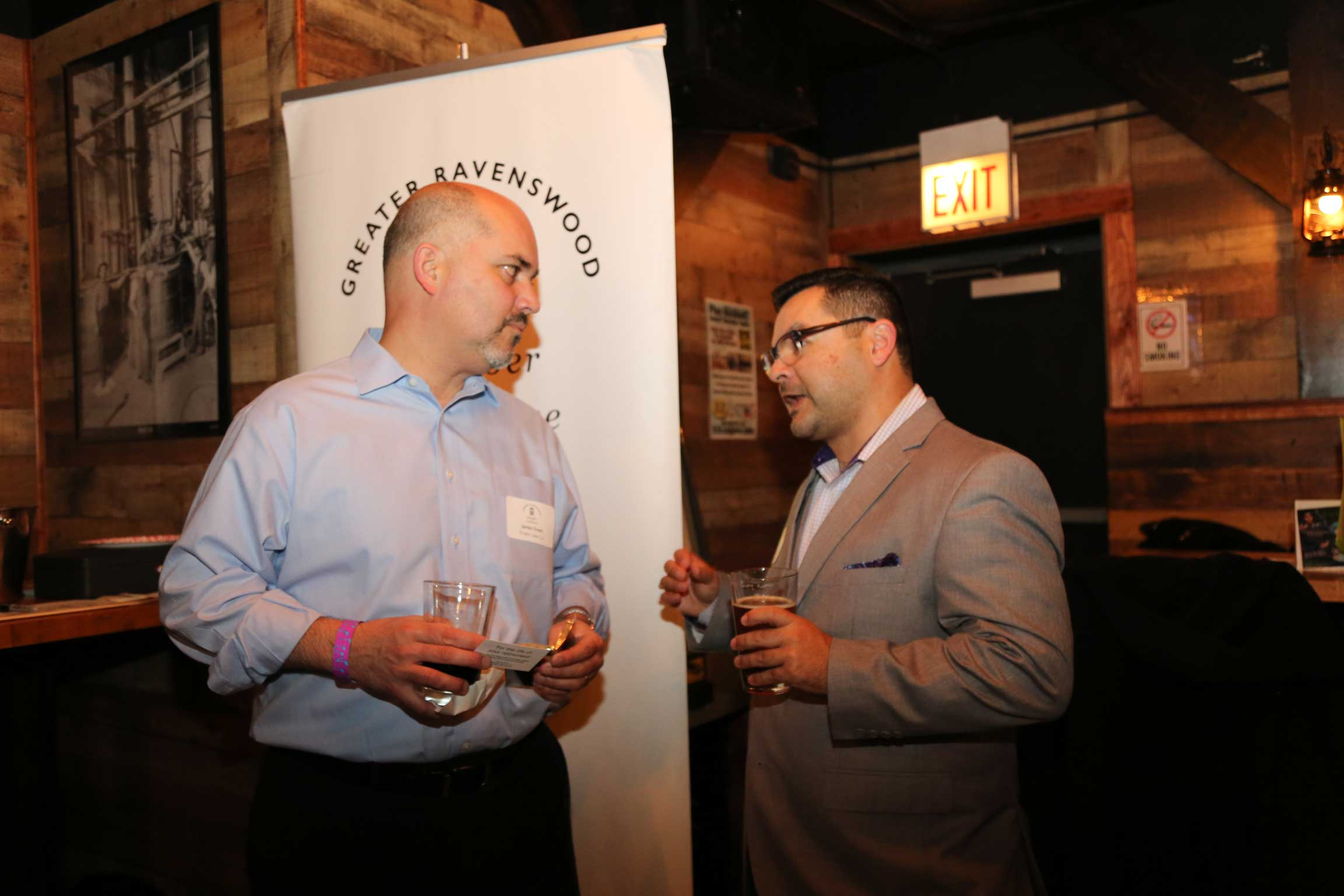 image of two networkers at an event