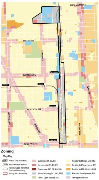 Ravenswood Zoning Map