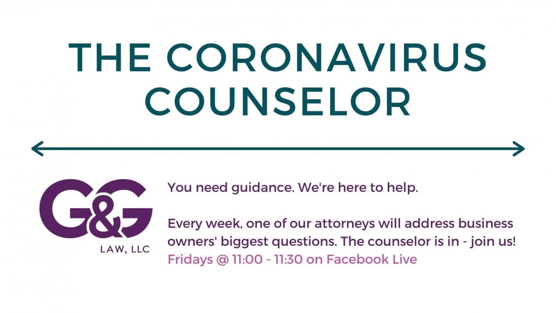 Coronavirus Counselor Event Logo