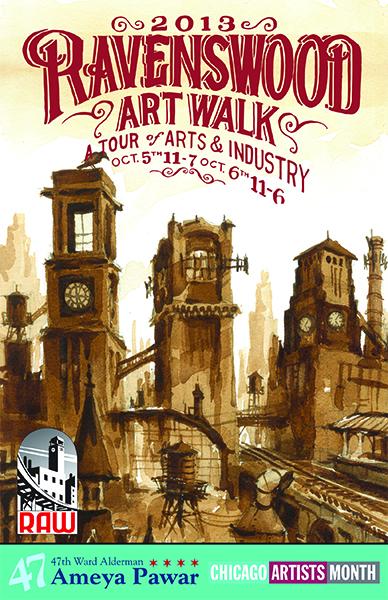 Ravenswood ArtWalk poster from 2013