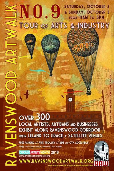 Ravenswood ArtWalk poster from 2010