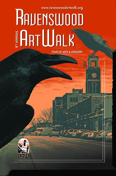 Ravenswood ArtWalk poster from 2009