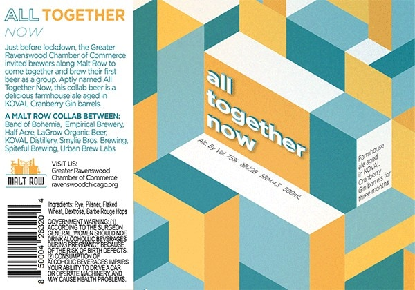 All Together Now beer label