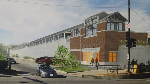 A rendering of the new Metra Station being built at Ravenswood and Lawrence