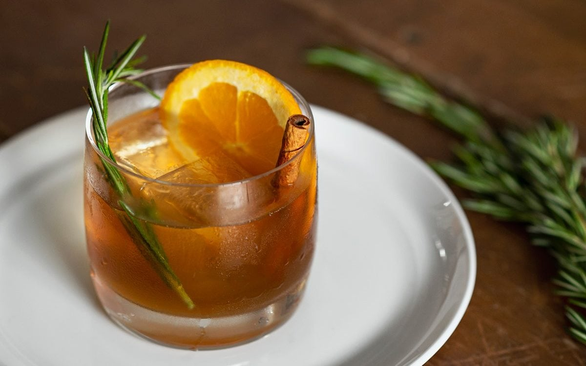 A sage-infused KOVAL cocktail