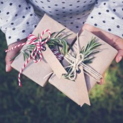A picture of green and sustainably packaged holiday gifts