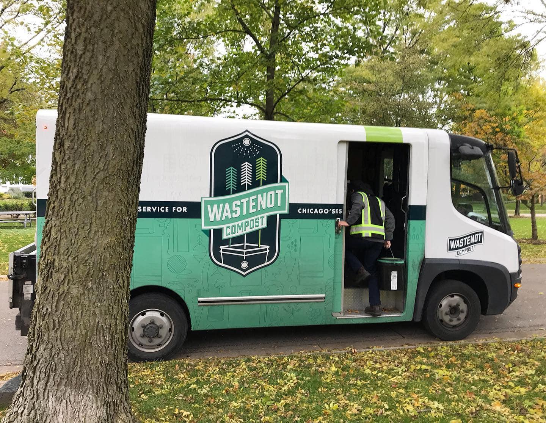 A WasteNot Compost electric service van