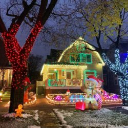 A Ravenswood home covered in holiday lights