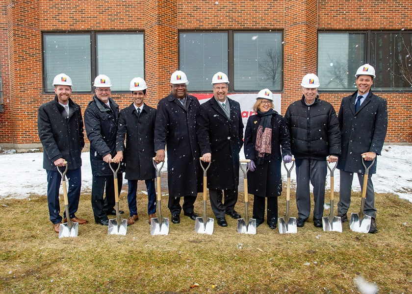 Local officials at the ceremonial groundbreaking of the new Ravenswood Senior Living facility
