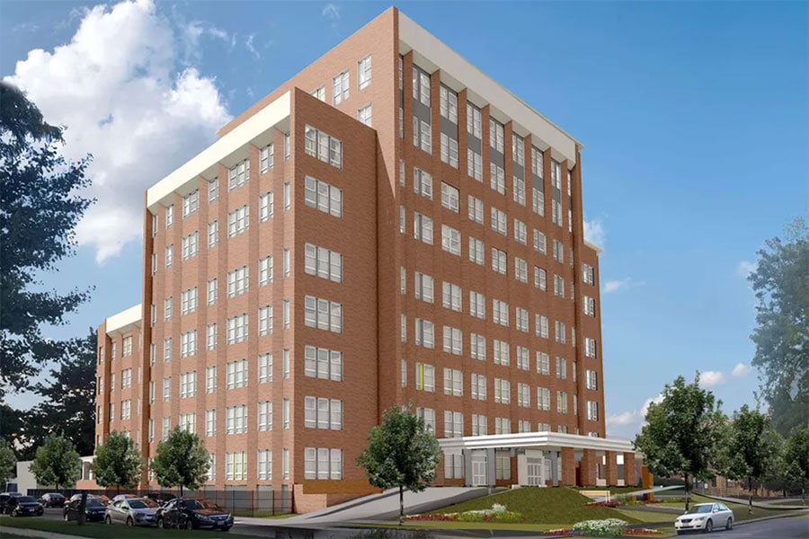 A rendering of the new Ravenswood Senior Living facility at 4501 N Wolcott