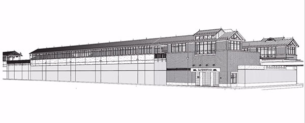 An early rendering of the Ravenswood Metra Station