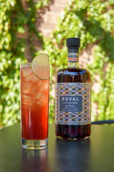 Cocktails on KOVAL Distillery's Malt Row patio